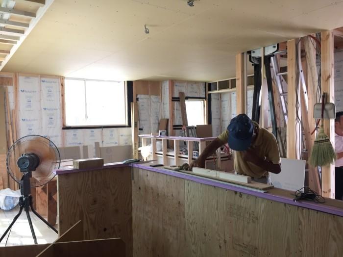 姫路モデルハウス工事風景2