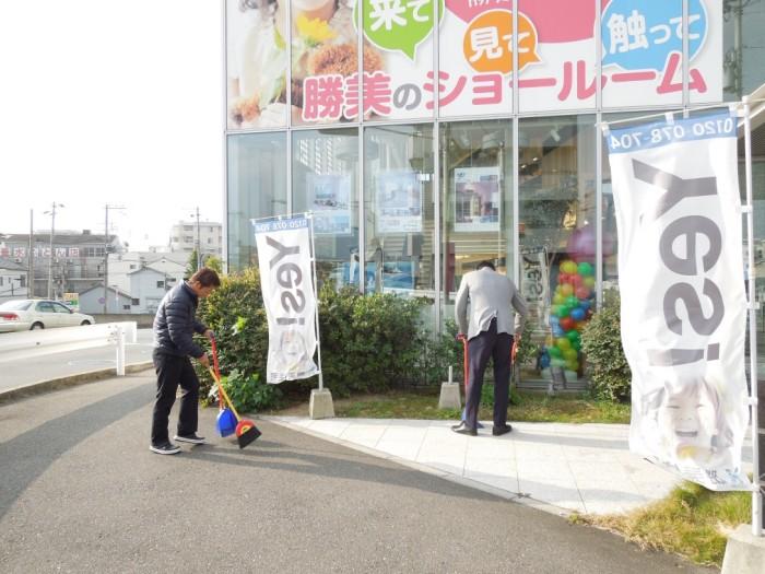 垂水店掃除1