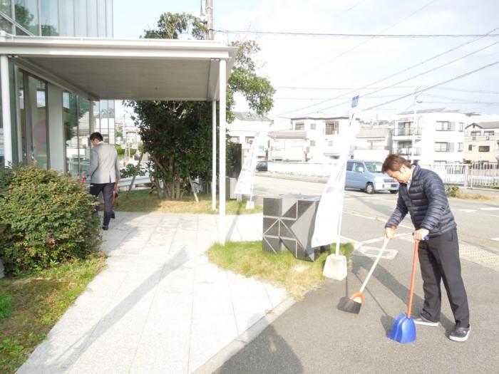 垂水店掃除2
