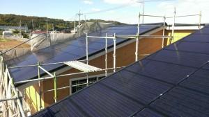太陽光パネル一体型屋根1