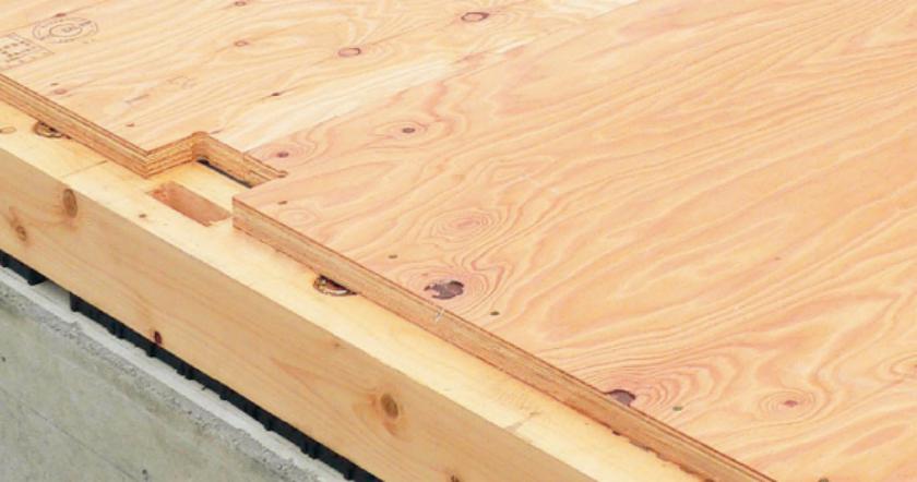 24mmの極厚の構造用床材