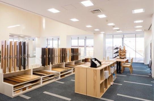 快適Katsumiをご体験!ショールームに実物の木材を多数展示しております