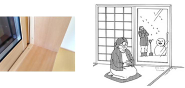 和室の窓に、断熱性の高い樹脂サッシを使う理由。