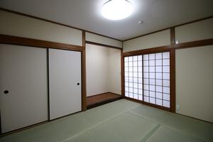 和室二間の改修後です