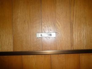 床下収納の金具の交換