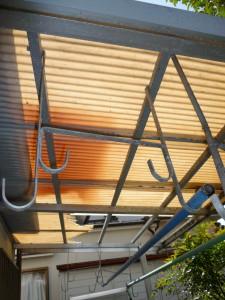 1Fテラス屋根の交換前