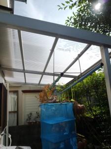 テラス屋根の交換