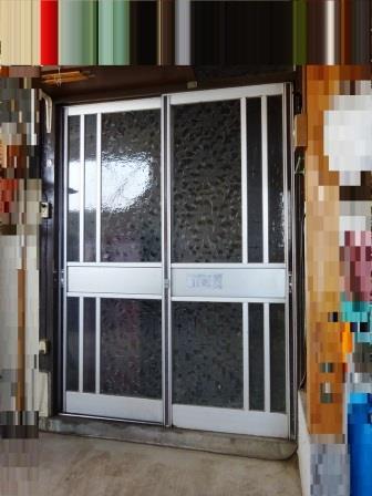 玄関引戸のリフォーム前